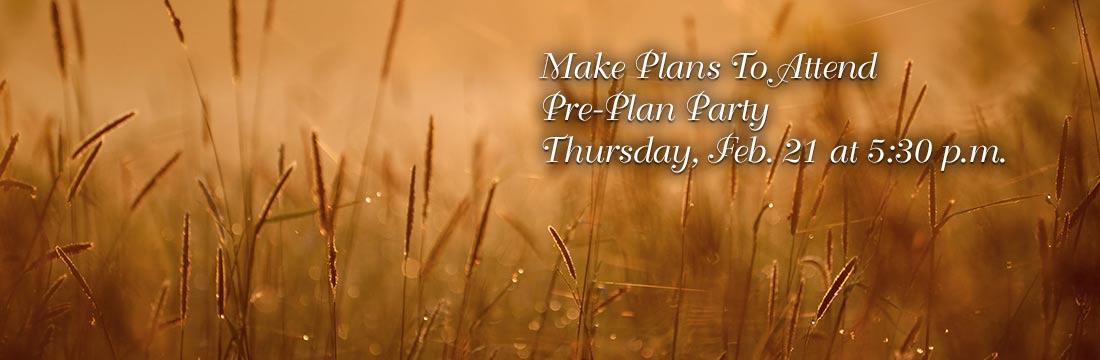 Pre Plan Party